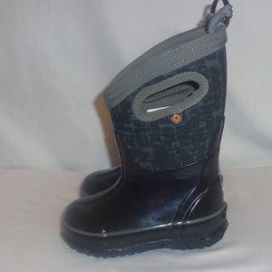 Boots Bogs Kids 7 Rain Black Graffiti Waterproof